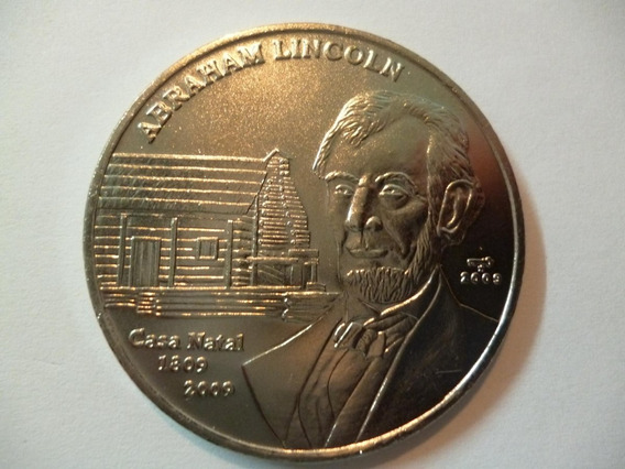 Cuba Moneda 1 Peso Unc 2009 - Bicentenario Abraham Lincoln
