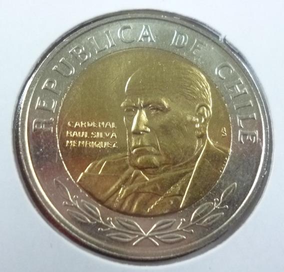 Chile Moneda Bimetalica Cardenal Raul Silva 500 Pesos 2008