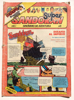Revista Super Sandokan N° 5 Editorial Columba 1983 Menudo