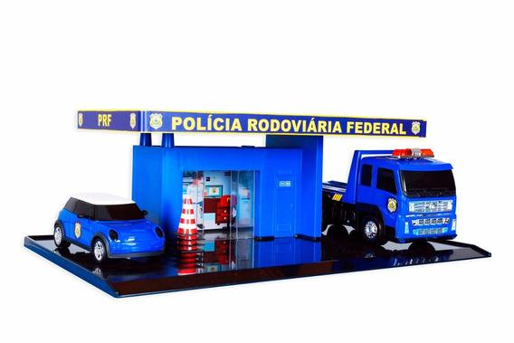 Escala 1/32 Policia Rodoviaria Federal Caminhão Plataforma