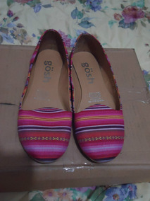 Zapatos Flats Gosh Rayados De Colores 4 Mex P/dama