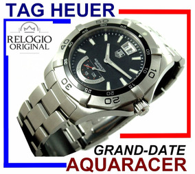 Tag Heuer Aquaracer Grand Date Waf1010 Preto Aço-aço!