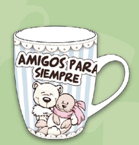 Taza Amigos Para Siempre Nici 250ml Ceramica