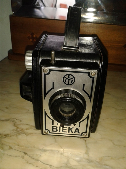 Camera Antiga Bieka Em Baquelite (only Wood)