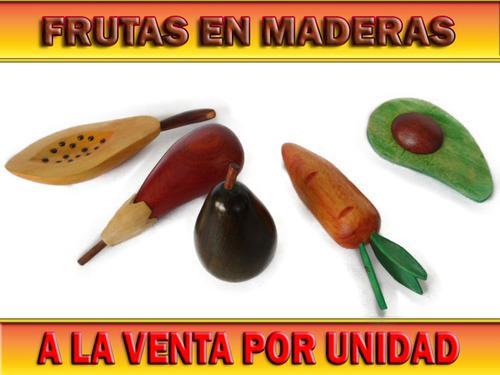 Frutas De Maderas Por Unidad Artesanía Hogar Mesa Adorno