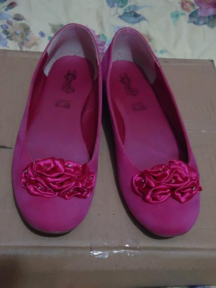 Zapatos Flats Tropicana Color Fiusha 4 Mex P/dama