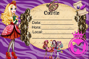 20 Ever After High Convite