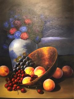 Óleo Armando Ahuatzi Decoración Pintura Cuadro Bodegón