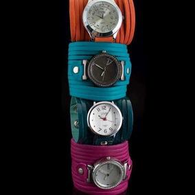 Relógio Stime De Couro E Metal