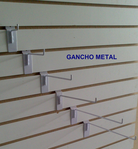 Imagen 1 de 2 de 260 Gancho Blister Para Panel Ranurado Exhibidor Exhipanel