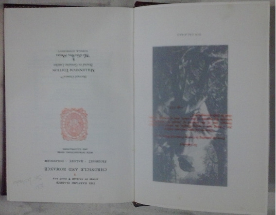 Livro Exc Chronicle And Romance Froissart Mallory Holinshed