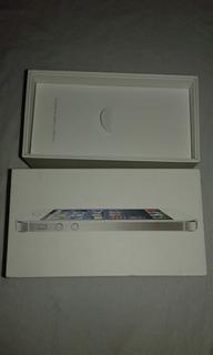 Caixa Vazia Do iPhone 5white 16gb Branco Mod:a1428 Md294br/a