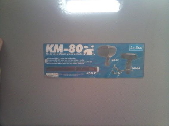 Kit De Microfones Para Bateria Km-80