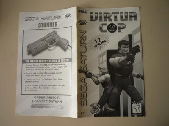 Manual Do Jogo Virtua Cop - Sega Saturno