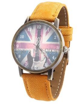 Relógio Goo Save The King - Estilo Vintage - Bege
