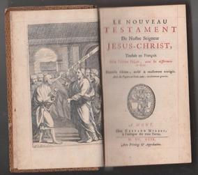 Bíblia Novo Testamento Ilustrado 1699 Em Francês 2 Volumes