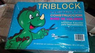Block Papel Lustrillo De Colores Surtido. 30 Hojas