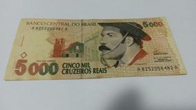 Nota Antiga De Cinco Mil Cruzeiros Reais