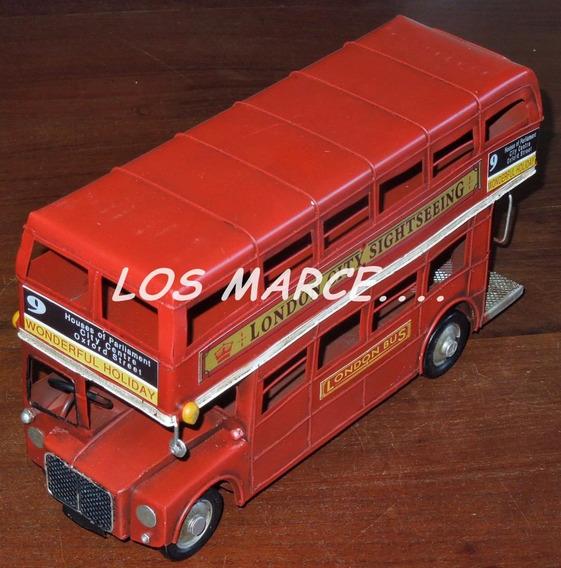 Bus Doble Piso Londres De Chapa En Miniatura Replica 7001