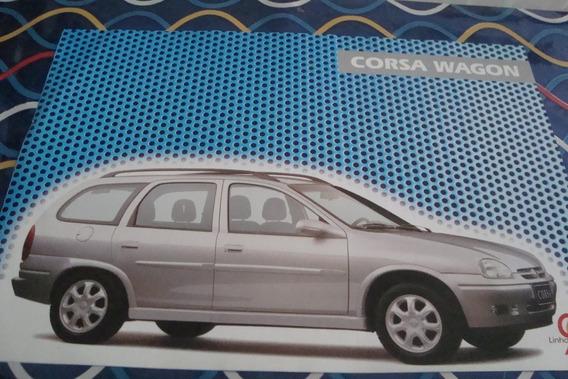 Poster Cartaz Foto Catalogo Chevrolet Corsa Wagon 1998