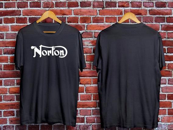 Remera Motos Norton + Calco De Regalo