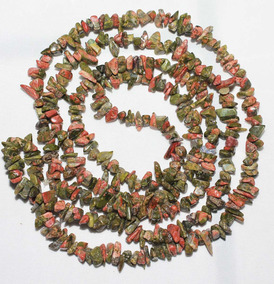 Cascalho Unakita Pedra Natural Verde Rosa 90cm Teostone 487