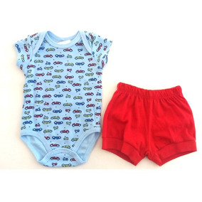 Conjunto Body E Short Masculino Criança Infantil- 010536