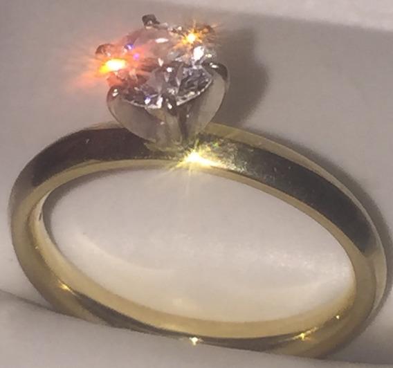 Anillo De Compromiso Solitario De Diamante