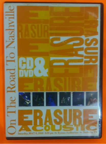 Erasure Cd/dvd-acoustic- On The Road To Nashville