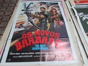 Cartaz De Cinema Do Filme De Ficção Os Novos Bárbaros!!!!!!!