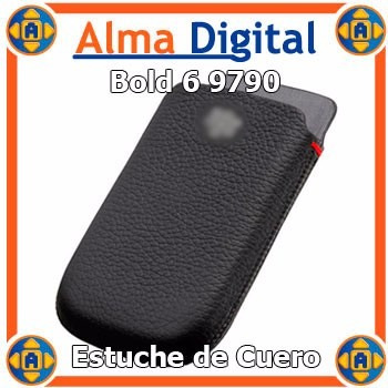 2x1 Funda Cuero Blackberry Bold 6 9790 Tipo Sobre Protector