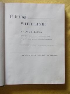 1949 Painting With Light (pintar C/luz) J.alton 1º Edic.(r9)