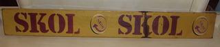 Placa Decorativa Da Skol De Latão (95 Cm De Comprimento)