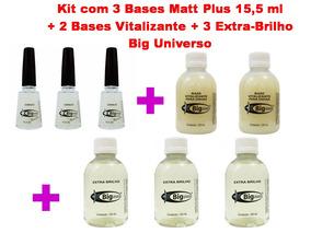 Kit C/3 Base Matt Plus + 3 Extra-brilho + 2 Base Vitalizante