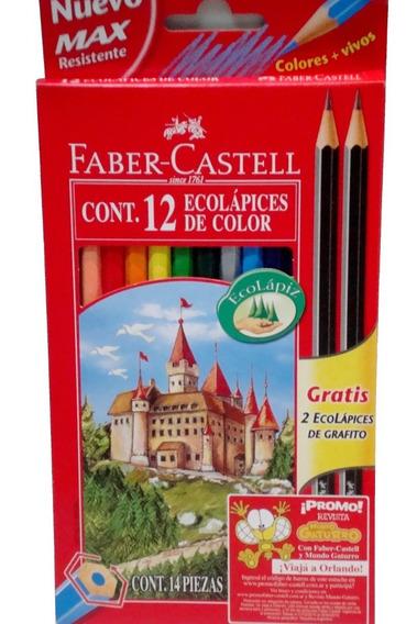 Lapices De Colores Pinturitas Faber Castell X 12 Unidades