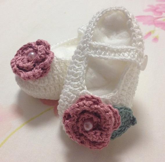 Sapatinhos Croche Bebe Personalizado - Rn, P, M, G