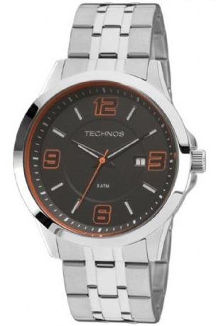 Relógio Technos Masculino Aço Com Calendário 2115kqg/1l