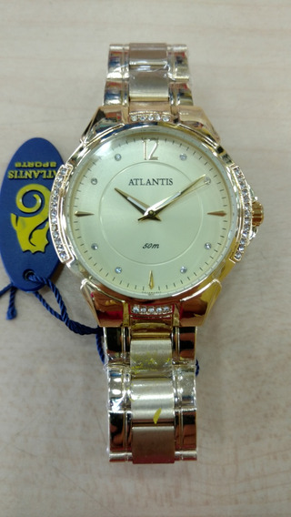 Relógio Atlantis Feminino Luxo Original - Lançamento 3414