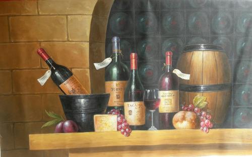 Cuadro Al Oleo De Frutas.pinturas Para Sala Hogar