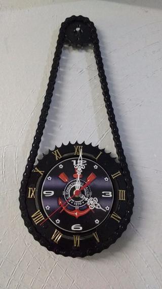 Relógio De Parede Corinthians Artesanal De Relação De Moto