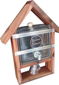 Pingometro Barato Casa Tijolo Vidro Transp 1 Litro Brinde