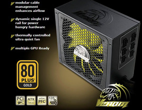 Fonte Real 850w 80 Plus Gold Modular Pfc Ativo Akasa Venom