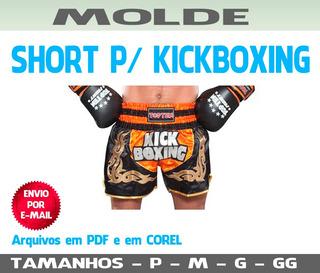 Molde Bermuda Para Kickboxing - Muay Thai - Artes Marciais