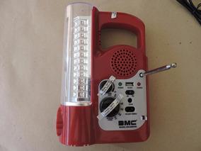 Lanterna Radio Fm/am 60led 6v 1600mah Usb Bivolt