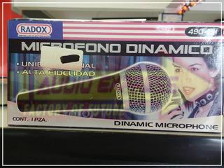 Microfono Dinamico Unid Metalico 490151