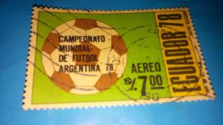 Estampilla Del Mundial De Argentina 78.- De Coleccion