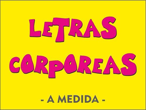 Letras Corporeas Mdf Fibrofacil Polifan Acrilico Cuero