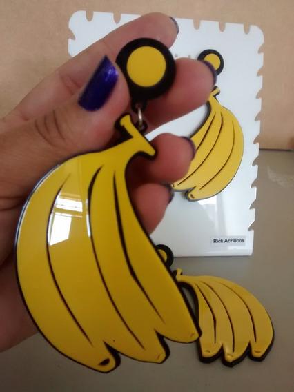 Brinco Maxi Em Acrilico Banana Laranja Melancia Bocão Kissme