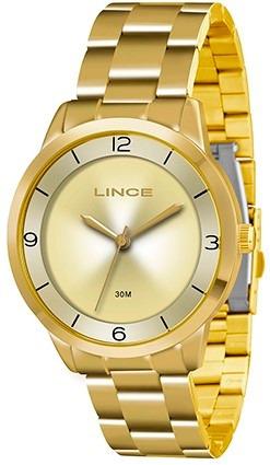 Relógio Lince Dourado - Lançamento 2018 - Lrg4322l