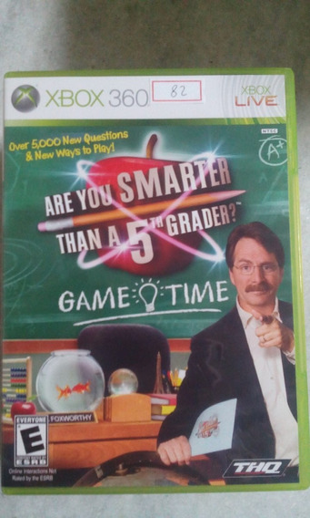 Jogo Xbox 360 Are You Smarter Than A 5th Grader? Ntsc Lote82